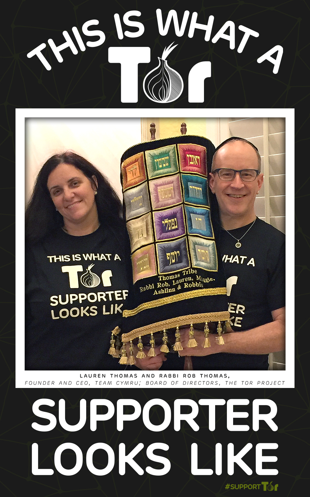Double Your Donation: Rabbi Rob and Lauren Thomas Announce Matching Challenge for #SupportTor