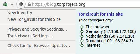 Figure 1: The new Tor Onion Menu
